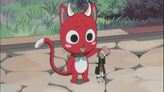 Playing with Natsu (happy_the_red) Tags: anime art manga fairytail cats cat cute exceed fav edit animeedit boostme followme boost devil repost like natsu