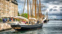 Mira of Copenhagen (tonyguest) Tags: mira copenhagen schooner sailing ship water hss topaz denmark tonyguest admiral hotel clouds