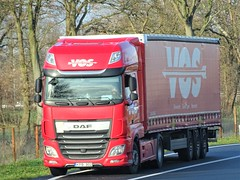 DAF XF116 superspacecab from Vos Lithuania. (capelleaandenijssel) Tags: kpb902 truck trailer lorry camion lkw netherlands nl