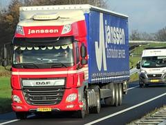 DAF CF spacecab from Janssen Holland. (capelleaandenijssel) Tags: 02bnn9 truck trailer lorry camion lkw netherlands nl