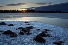 Melting Ice (aivar.mikko) Tags: finland tampere näsijärvi sunset sun ice lake melting snow finnishlandscapes landscape landscapes finnish coth5