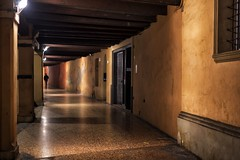 one and only (marco monetti) Tags: one uno man uomo lonely solitario loneliness solitudine night notte shadows ombre lights luci streetphotography fotografiadistrada porticoes portici portico bologna