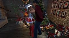 Puppy for Christmas (antoniohunter55) Tags: signature gianni maitreya bento catwa second life nomatch hair christmas tree train santa hat