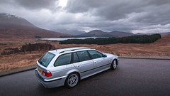 (Chris B70D) Tags: glencoe scotland 2019 autumn winter cold grey green moss hills mountains scenery grass heather sky clouds skyfall figure black tones colour edit raw canon 70d go outdoors travel nature fresh landscape history highlands holiday weekend roadtrip cairn rain best scottish travelling bmw e39 530d msport m sport touring 5 series estate 2002 wagon daily driver silver cool clean sharp modern future classic