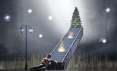 Consumed (☘️ Patrick Ireland ☘️) Tags: sl secondlife dove fire christmastree surreal surrealism red letgo thomasmoore renewal