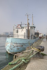 Blue afloat (Tony Shertila) Tags: england gbr geo:lat=5071202118 geo:lon=198672831 geotagged poole pooletownward unitedkingdom 20161027111706 europe britain dorset boat trans transport fishingboat harbour coast
