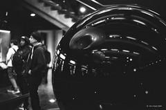 sphere (markjwyatt) Tags: kodakretinareflexiv schneiderkreuznach trix monochrome film analog 50mmf19xenon california griffith observatory losangeles availablelight planetarium kodak