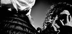 Talk to the hand. (Baz 120) Tags: candid candidstreet candidportrait city contrast street streetphoto streetportrait strangers rome roma ricohgrii europe women monochrome monotone mono noiretblanc bw blackandwhite urban life portrait people provoke italy italia grittystreetphotography faces decisivemoment