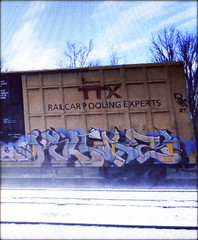 (timetomakethepasta) Tags: killaz freight train graffiti art ttx boxcar