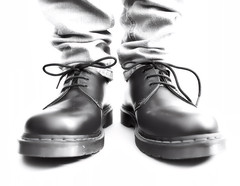 Going walkabouts (CJS*64) Tags: cjs64 craigsunter cjs mono monochrome blackwhite bw blackandwhite shoes feet walkabouts walking boots docmartens