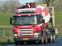 Scania P380 mobile concrete pump from Rouwmaat Groenlo Holland. (capelleaandenijssel) Tags: bvpz50 truck trailer lorry camion lkw netherlands nl mixer