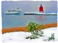 HSS (smiles7) Tags: charlevoixmichigan emeraldisle lakemichigan lighthouse sliderssunday
