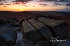 KitKat Sunrise (Jon Sargisson - www.jdsargissonphotography.co.uk) Tags: landscape higgertor winter sunrise ice blustery freezing peakdistrictnationalpark darkpeaks