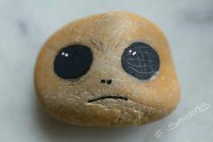 some sad alien (photos4dreams) Tags: stone stoneart art stein kunst bemalt handbemalt handmade ooak photos4dreams p4d photos4dreamz susiestones susierocks craft diy stones paintingpebbles handpainted