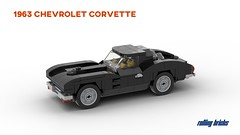 1963 Chevrolet Corvette - INSTRUCTIONS - (Rolling bricks) Tags: lego classic car racecar speed vintage classiccar oldtimer instructions supercar champions sportscar racingcar legocar hypercar speedchampions 6studs city chevrolet window ray stingray muscle sting minifig split corvette musclecar minifigure 6wide