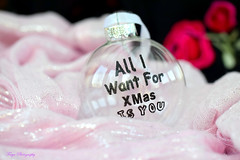 You... (Maria Godfrida) Tags: smileonsaturday baubles christmas decoration closeup pink glas text you present gift shiny bokeh