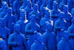 'One Among Many' (Canadapt) Tags: statues blue park buddhaeden portgugal canadapt
