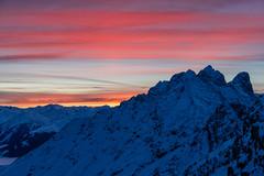 Sonnenuntergang (zirano) Tags: tirol tyrol alps alpen berge mountains sunset sonnenuntergang schnee snow sun set karwendel inntalkette nordkette