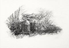 Abandoned Chapel. (Monobod 1) Tags: liquid light photoemulsion watercolour paper seleniumtoner alternativeprocess