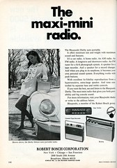 Blaupunkt radios, part of the Robert Bosch corporation, 1968 (Nesster) Tags: vintage hifi stereo electronics magazine print ad advert advertisement september 1968 hifistereoreview