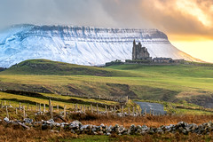 """Benbulben – """"The Guardian of Classiebawn"""" (Gareth Wray - 13 Million Views, Thank You) Tags: classiebawn castle mullaghmore valley county sligo mountain slieve league sea cliffs carrick donegal slieveleague highest snowcapped snow capped winter frozen 2019 hill cliff landscape scape ireland irish rocks nature natural tourist site visit nikon d810 gareth wray photography sky nikkor sigma zoom lens sun photographer mountains walk grange day vacation country house manor lord mountbatten cliffoney holiday europe bulbin wild atlantic way route sunset lands scenic cliffony 70200mm"""