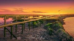 Little Oakley Sunrise (Aron Radford Photography) Tags: yellow little oakley essex sunrise dawn boat water landscape east anglia low tide golden hour jetty