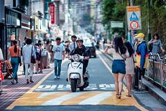 Morning in Hongdae (Jon Siegel) Tags: nikon nikkor d810 135mm f2 boys girls men women people morning hongdae hongik seoul southkorea korean fashion style scooter bike motorbike