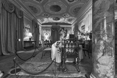 Basildon Park - Interior (TerryCym) Tags: basildonpark nationaltrust blackandwhite bw monochrome photomatix hdr table room indoor chair