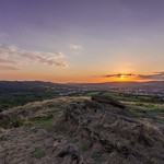 Sunset view from Rudry Mountain