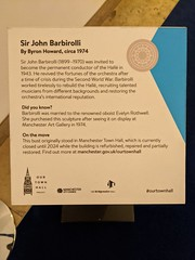 Sir John Barbirolli sculpture inside Bridgewater Hall (stillunusual) Tags: manchester bridgewaterhall sirjohnbarbirolli johnbarbirolli barbirolli statue sculpture bust bronze mcr city england uk bee manchesterbee beeinthecity art artwork publicart contemporaryart modernart 2019
