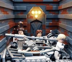 """Part 38: """"The Walls are moving!"""" (Codyaner_bricks) Tags: deathstar chewbacca princessleia hansolo lukeskywalker legostarwars legomoc starwars lego"""