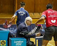_DB10272 (Sprocket Photography) Tags: tabletennis tabletennisengland bat ball net table player competition britishpremierdivision batts ormesby harlow essex umpire towel