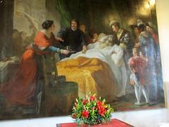 « La mort de Léonard de Vinci » (Sur mon chemin, j'ai rencontré...) Tags: amboise 37 indreetloire centrevaldeloire france châteauxdelaloire châteaux châteaudamboise monumentshistoriques 1840 lamortdeléonarddevinci tableau françoisguillaumeménageot 17441816 lesappartementsrenaissance renaissance