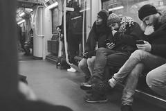 U8 (__J) Tags: u8 subway ubahn underground blackandwhite schwarzweis sw bw monochrome monochrom berlin bvg samyangaf35mmf28fe samyang35mm28 samyang35mm samyang3528 35mm samyang primelens festbrennweite sonyalpha7ii sonyalpha7m2 sonyilce7m2 sonyalpha7 sonyalpha handy smartphone hangingonthetelephone thumbsucker daumenlutschen cuddle kuscheln grain grainy