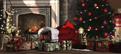 Santa dropped by (Alexa Maravilla/Spunknbrains) Tags: {mossmink} fameshed dad anthem trompeloeil minimal {vespertine} secondlife blog blogger christmas decor decoration home holidays indoors red ornaments deer interiordesign virtualworld virtual living