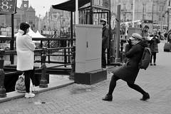 The photographer and her model (menno marrenga) Tags: canon6dmkii amsterdam sreetphoto straatfoto straatfotografie strretphotography photographer girlsandcameras balckandwhitephotography
