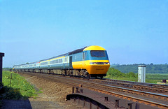 19780606 Scan1635 254007 Barkston South Jn. (Bill Atkinson2) Tags: british rail intercity 125 hst class 43 tram ecml 254007 barkston south jn lincolnshire england
