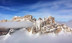 Dolomiti (Italy): View from Lagazuoi (giuliominoja) Tags: dolomiti trentino adige italia italy mountain montagna snow ski altoadige sudtirolo winter