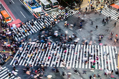 Shibuya Crossing, Tokyo (Piotr_Lewandowski) Tags: shibuya shibuyacrossing shibuyascramble tokyo japan nippon asia cityscape city urban street streetphotography people blurred movement fromabove slowshutter longexposure