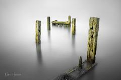 Broken Breaker (Nathan J Hammonds) Tags: kent uk coast sea seascape nikon long exposure nd filters water breaker old winter