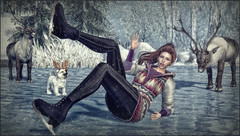 *I'm okay, I didn't fall...the ice just needed a hug* ❤️ (Ⓐⓝⓖⓔⓛ (Angeleyes Roxley)) Tags: diversion poses single bento im okay skates winter fun access event mainstore sl secondlife