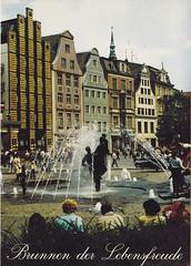 Postkarte / Deutschland (micky the pixel) Tags: germany deutschland postcard ephemera postkarte rostock hansestadt mecklenburgvorpommern fountain brunnen brunnenderlebensfreude