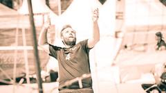 Serving. (Alex-de-Haas) Tags: 70200mm d500 dutch friesland lemmer lemsterstrand nederland nederlands netherlands nikkor nikon nikond500 beach beachvolleyball beachvolleybal beachwear competitie competition evenement event fit fitdutchies fitness fun game people plezier sand sport sports sportsevent sportswear strand summer sun sunny swimwear volleybal volleyball wedstrijd zand zomer zon zonnig