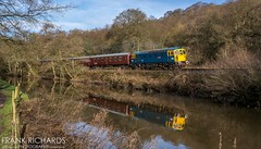 33102 | Consall | 15th Dec '19 (Frank Richards Photography) Tags: sophie class33102 class 33 33102 train sulzer santa special express cvr consall moorlands staffordshire cheddleton froghall tkh rail river canal stoke black lion tow path winter 2019 15th december churnet valley railway diesel crompton locomotive mark1 coach maroon br blue arrow nikon d7100 reflection water adobe lightroom rails