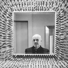 I'm falling in this colossal void (Super G) Tags: celln346 cellphone mirror reflection bw blackandwhite selfportrait 2019