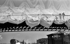 2019-♈-303 (ruggeroranzani_RR) Tags: analog blackandwhite 35mm film adoxsilvermax21 adoxatomal49 nikonf100 nikonafnikkor50mm118d people shadow reflections calatravabridge window venice