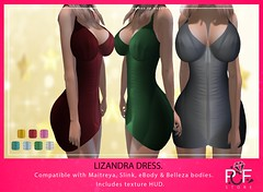 ::PCF:: Lizandra Dress (pcfstoresecondlife) Tags: women event ebody release tmp isis outfit outfitcomplete ocacin promo physique accessories second secondlife sl store slink site shoes dress fitmesh female freya fair fantasy girl gift hud hourglass heels life virtuallife virtual virtualstore venus belleza new newrelease maitreya mesh