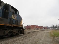 CSX 280 (rkilpatrick) Tags: csxrailroad csxtransportation csx locomotive diesel generalelectric ge olneyil
