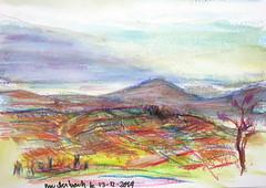bruderbach - 14-12-2019 (messer.christophe) Tags: westhoffen bruderbach neocolor ii paysage alsace lanscape croquis dessin
