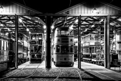 Back at the Sheds #4 (gavsidey) Tags: derbyshire ngc d500 tram tramshed crich tramway museum starlite event black white